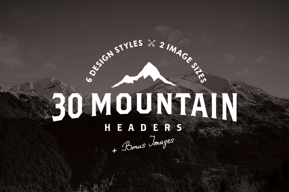 30 Mountain Hero Headers