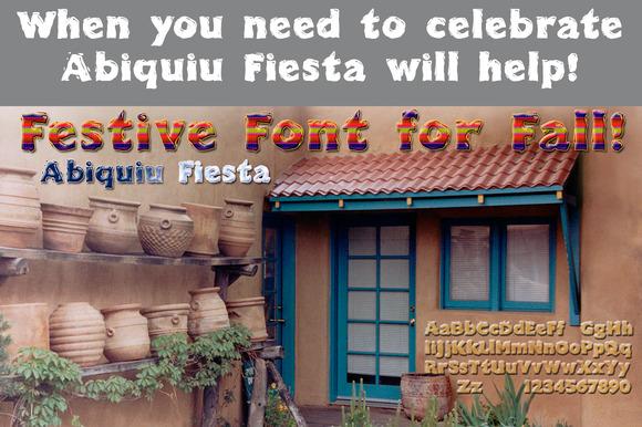 Abiquiu Fiesta Happy Font