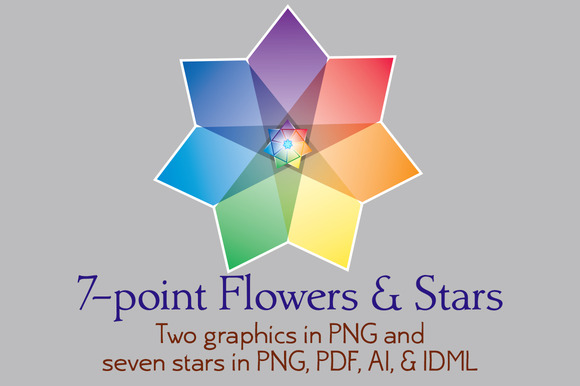 7-point Flowers And Stars