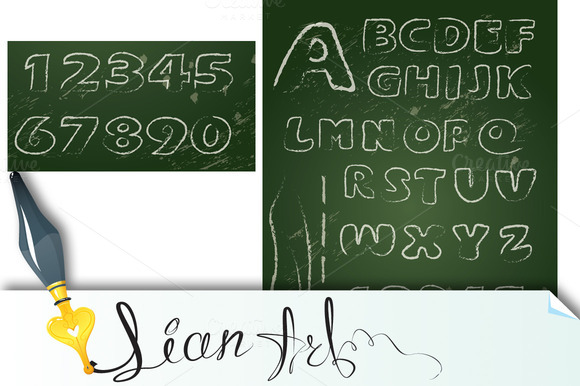 ABC English Alphabet On Blackboard