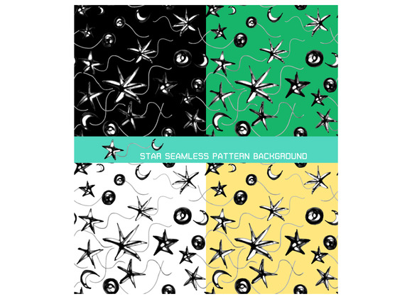 Seamless Pattern Background Of Star