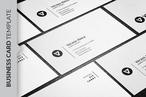 black and white minimalist business card designtube creative design content. Black Bedroom Furniture Sets. Home Design Ideas