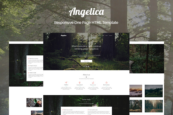 Angelica One Page HTML Template