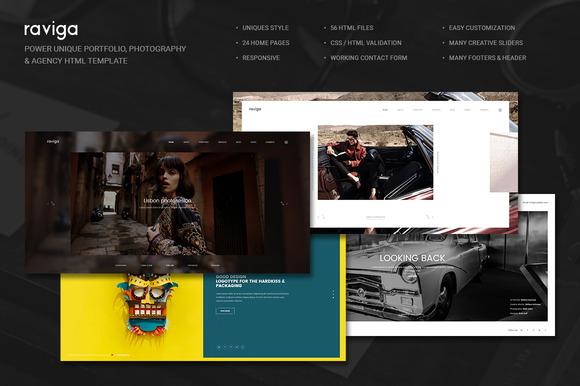 Raviga Portfolio HTML Template
