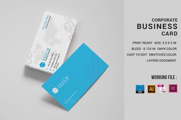 business card template indesign designtube creative design content. Black Bedroom Furniture Sets. Home Design Ideas