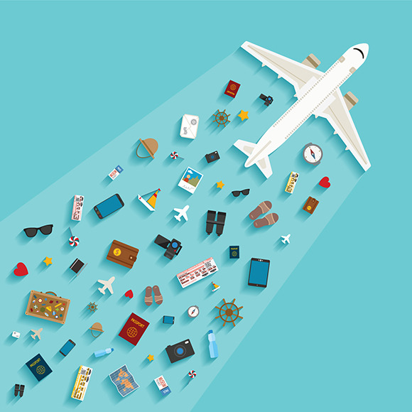 Airplane Travelling Concept