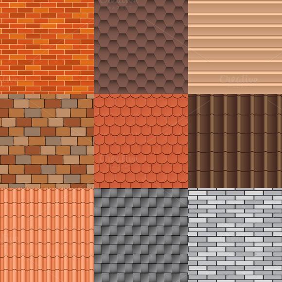 download free printable roof tile paper designtube. Black Bedroom Furniture Sets. Home Design Ideas