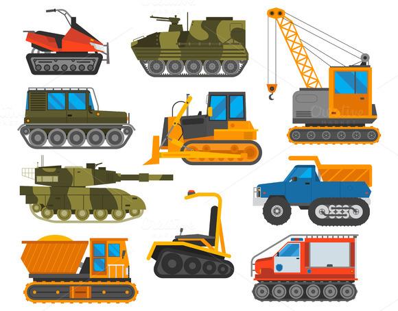 Caterpillar Equipment Tractor Vector