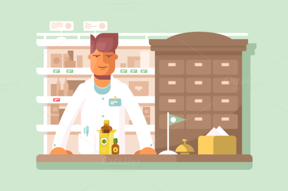 Pharmacist At The Pharmacy