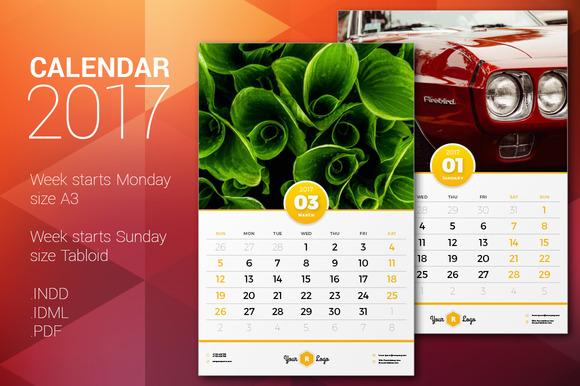 Calendar Templates Creative : Tabloid sized calendar template designtube creative