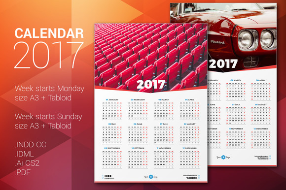 Poster size calendars 2017