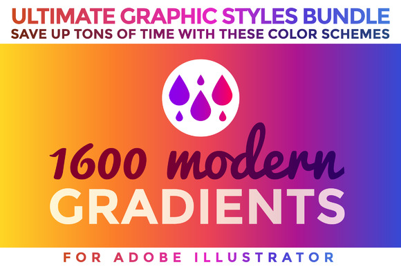 1600 Gradients Graphic Styles Bundle