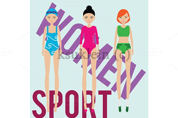 Women Sport Gym Athlete Swimmer