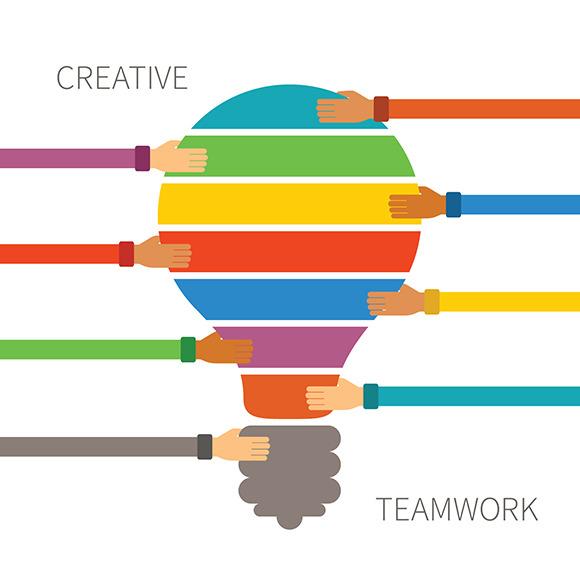 White Silhouette Of Teamwork » Designtube - Creative ...