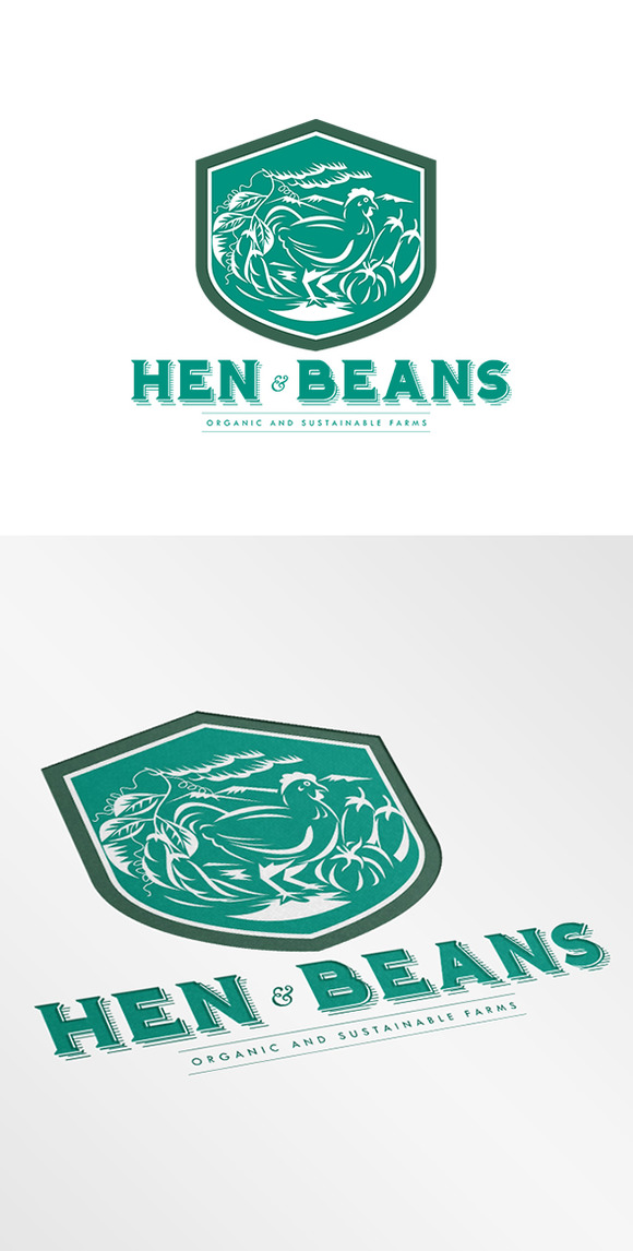 Hen And Beans Organic Farms Logo