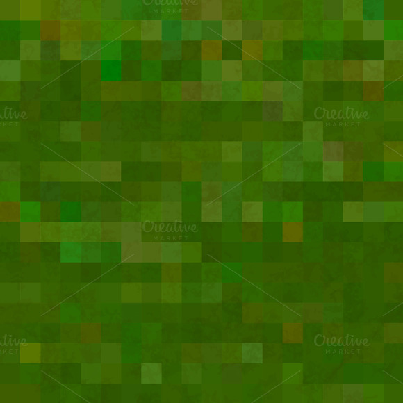 Green Pixelated Grass Pattern