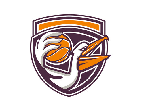 Pelican Passing Basketball Shield