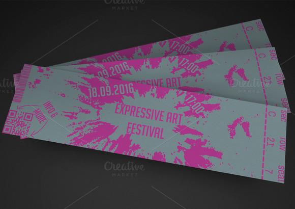 Artistic Event Ticket
