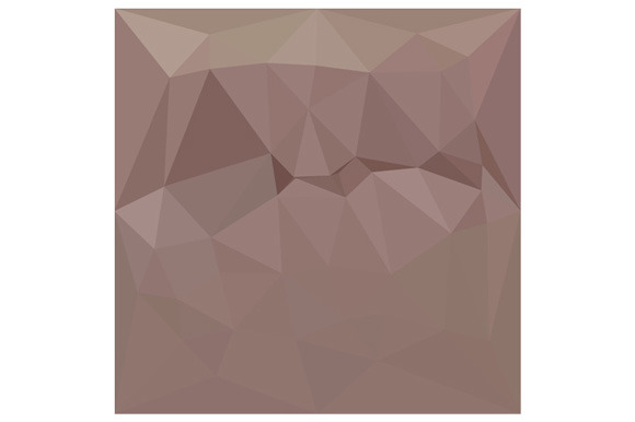Copper Rose Abstract Low Polygon
