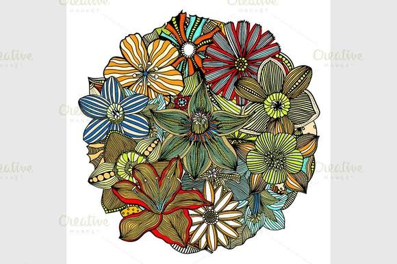 Color Floral Pattern