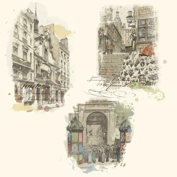 Parisien Street Scenes Clipart