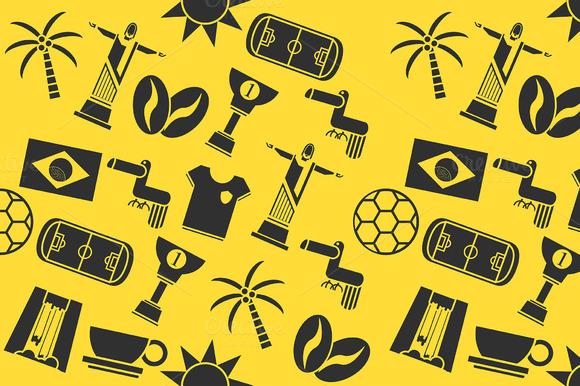 Brazil Icon Collage