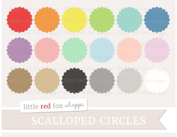 Scalloped Circle Clipart