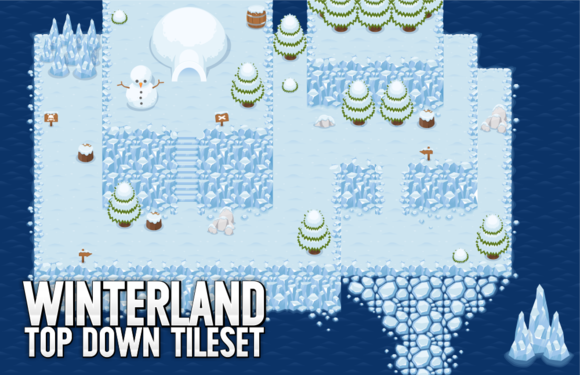 Winterland Top Down Tileset