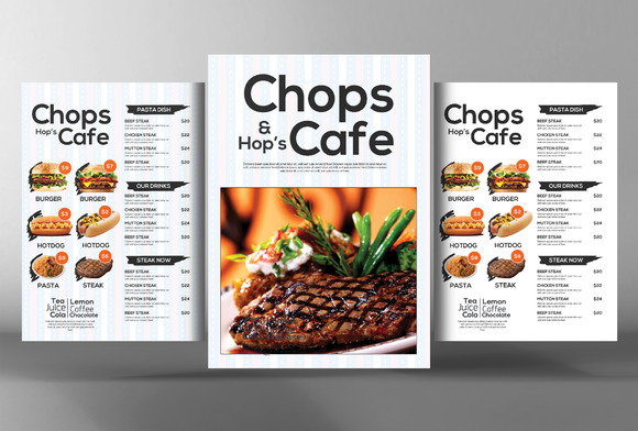 Cafe Restaurant Menu Template