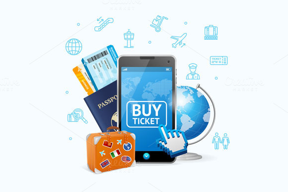Online Ticket Airline With Mobile