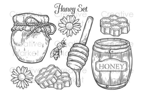 Hand Drawn Honey Set