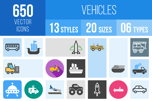 650 Vehicles Icons