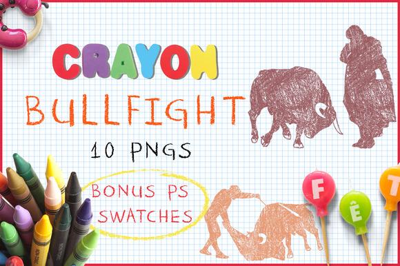 Crayon Bullfight
