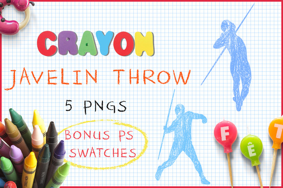 Crayon Javelin Throw
