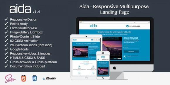 Aida Responsive Landing Page