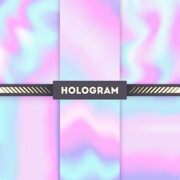 Rainbow Colored Hologram Set
