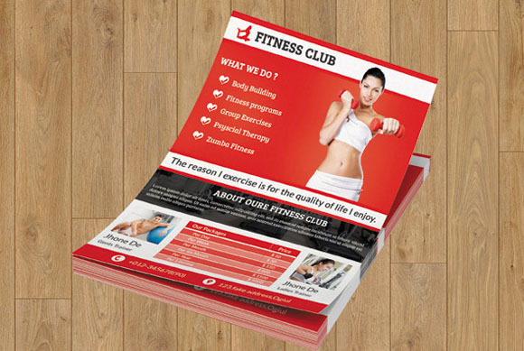 Flyer For Fitness Club
