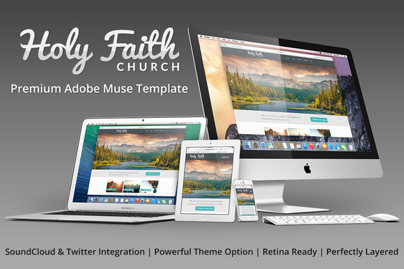 HolyFaith Multipurpose Muse Template