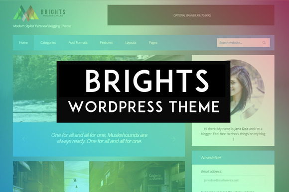 Brights WP Personal Blogging Theme