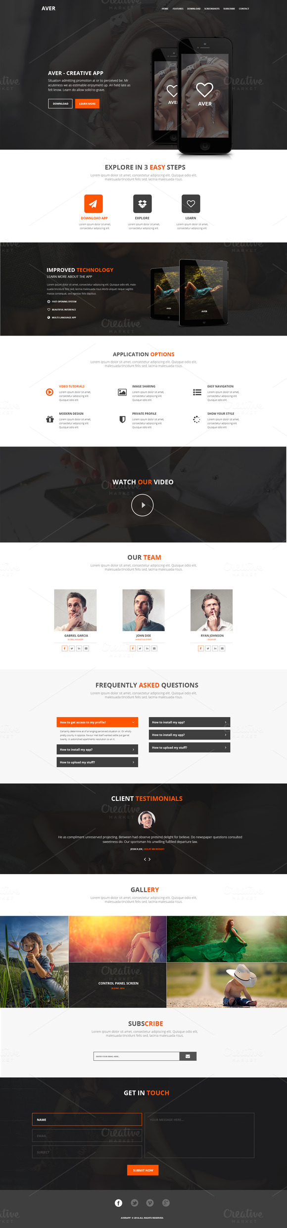 Aver PSD Landing Page