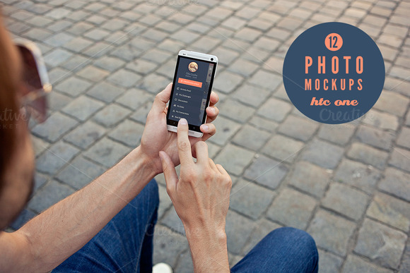 12 HTC ONE Photo Mockups