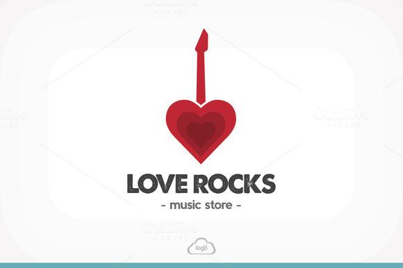 Love Rocks Logo Template