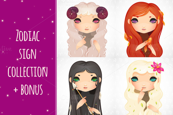 Zodiac Signs Collection Bonus