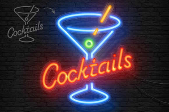 Neon Light Sign Photoshop Creator