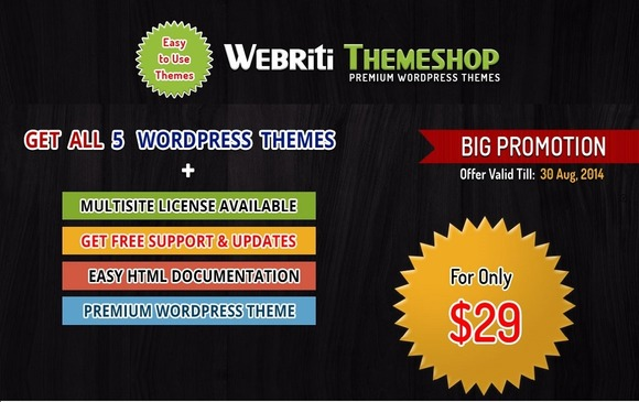 5 Premium WordPress Theme In $29