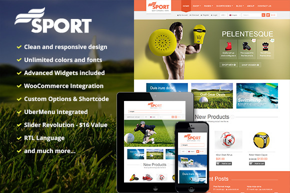 SW Sport Responsive WordPress Them