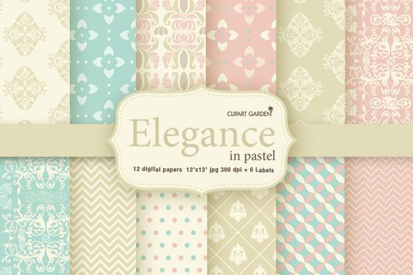 12 Elegant Pattern And 6 Frames