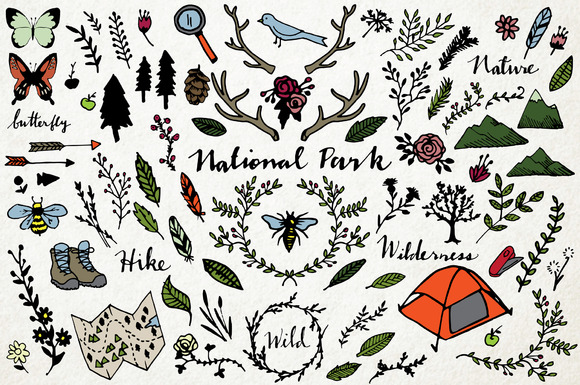 National Park Nature Vector Pack