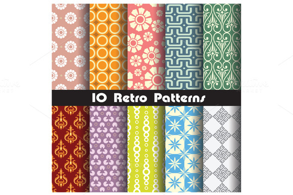 Retro Pattern Set 3