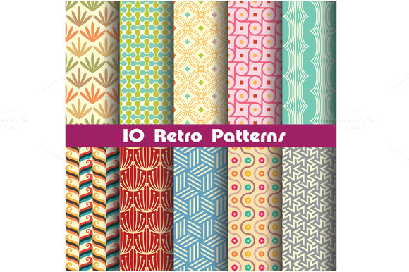 Retro Pattern Set 4